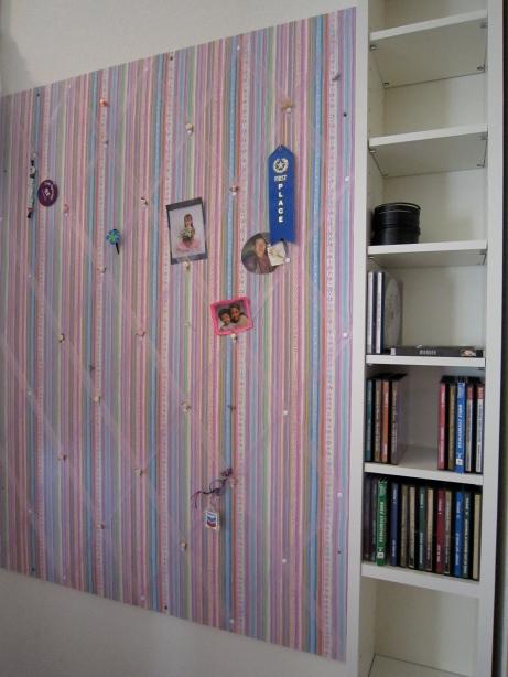 Bulletin Board and CD/DVD Shelves