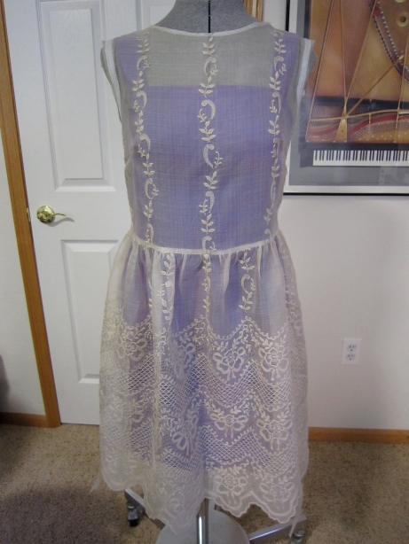 Overdress Unfinished Neckline and Armscyes