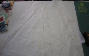 Shortened skirt from hem