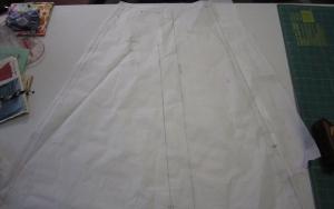 Shortened skirt from hem